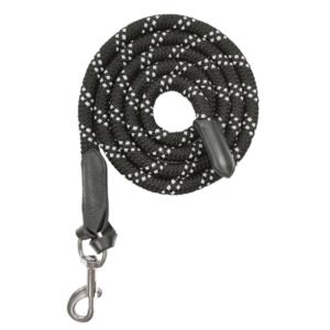 Lunghina in corda con cuoio – Nero
