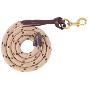 Lunghina in corda con cuoio – Marrone