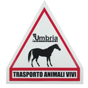 Cartello Trasporto Cavalli in plastica