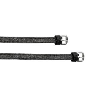 Cinturini per speroni Black Shine glitter neri