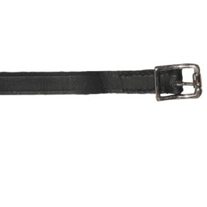 Cinturini per speroni in cuoio nero