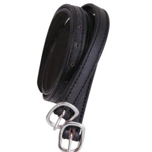 Cinturini per speroni in cuoio double-face nero-marrone
