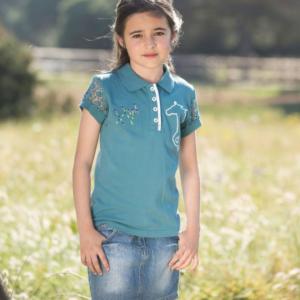 Polo Pique Bambina Blu – Horseware