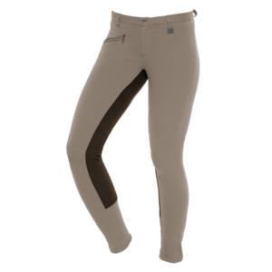 Pantalone Fun Two Tone Color Beige-Marrone