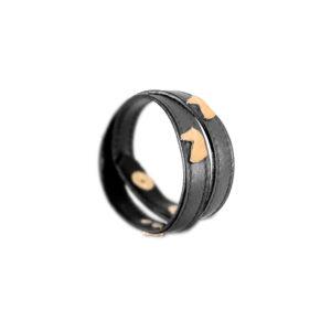 Braccialetto-Double-regalo-equestre-nero-oro